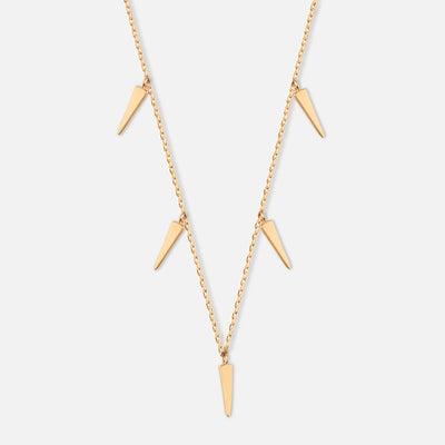 Mini Dagger Drop Choker Necklace - Gold