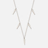 Mini Dagger Drop Choker Necklace - Silver