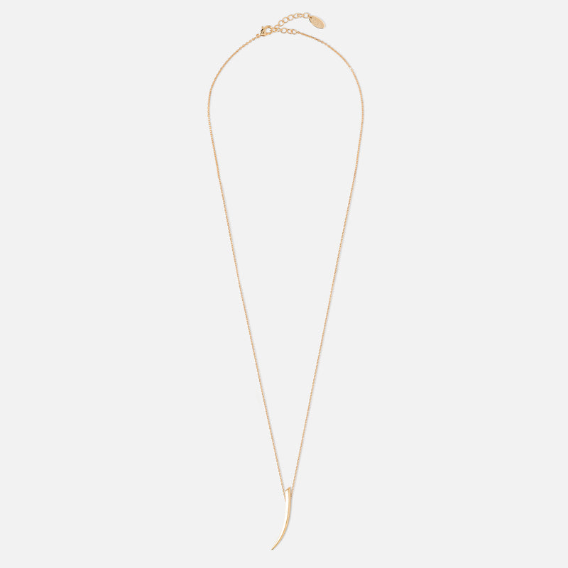 Gold Tusk Short Necklace