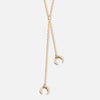 Double Crescent Mini Lariat Necklace