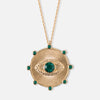Embellished Evil Eye Disc Necklace