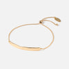Hammered Bar Slider Bracelet - Gold