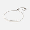 Hammered Bar Slider Bracelet - Silver