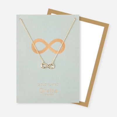 Gold Hammered Charm Necklace