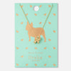 French Bulldog Ditsy Charm Necklace