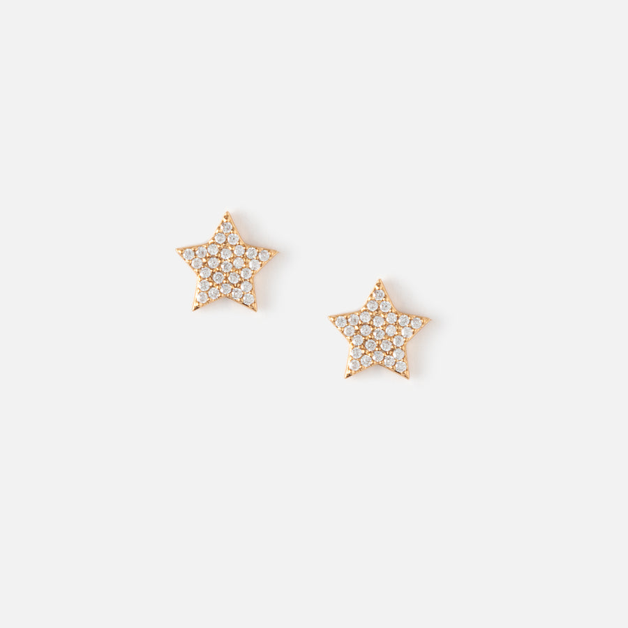 Pave Star Stud Earrings