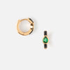 Emerald Jet Pave Huggie Hoop Earrings