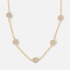 Pave Multi Disc Necklace