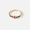 Fuchsia Oval Jewel Ring