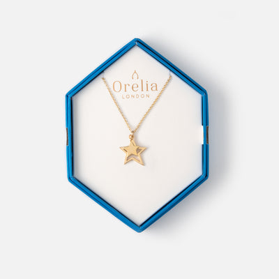 Cutout Star Necklace Gift Box