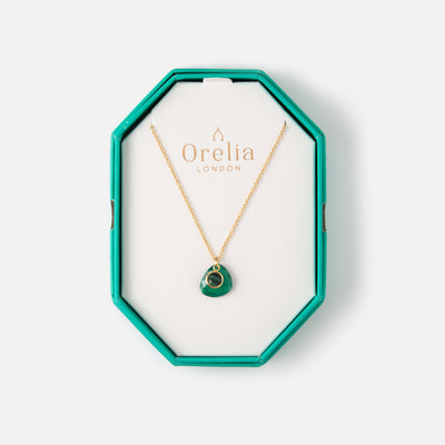 Semi Precious Necklace Gift Box - Malachite