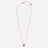 LUXE Disc Deep Fuschia Necklace