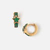 LUXE Green Star Huggie Hoop Earrings