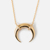 LUXE Pave Horn Necklace