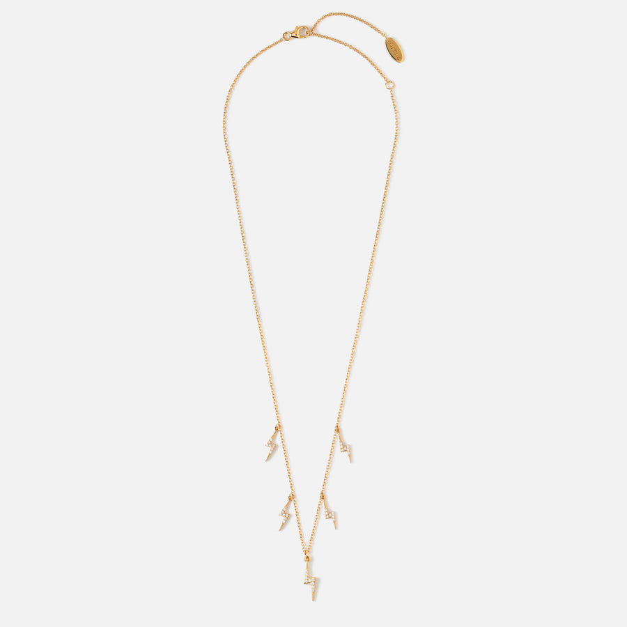 LUXE Pave Lightning Drop Necklace