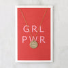 Girl Power Disc Necklace