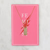 Feminist Tag Necklace