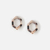 Resin Open Triangle Stud Earrings