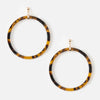 Front Facing Tortoise Resin Hoop Earrings