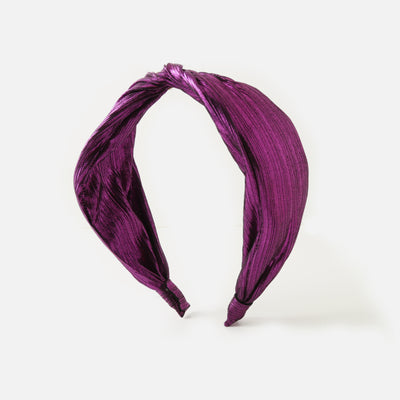 Purple Metallic Twist Headband