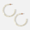 White Resin Hoop Earrings