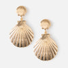 Double Sea Shell Earrings