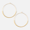 Gold Seedbead Hoop Earrings
