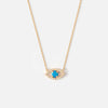 Evil Eye Charm Necklace  - Blue Opal