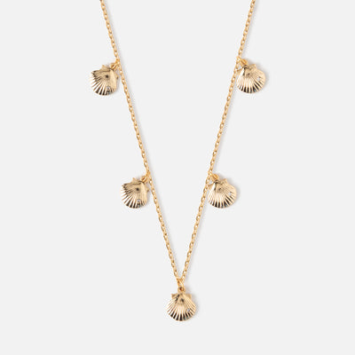 Mini Shell Drop Charm Necklace