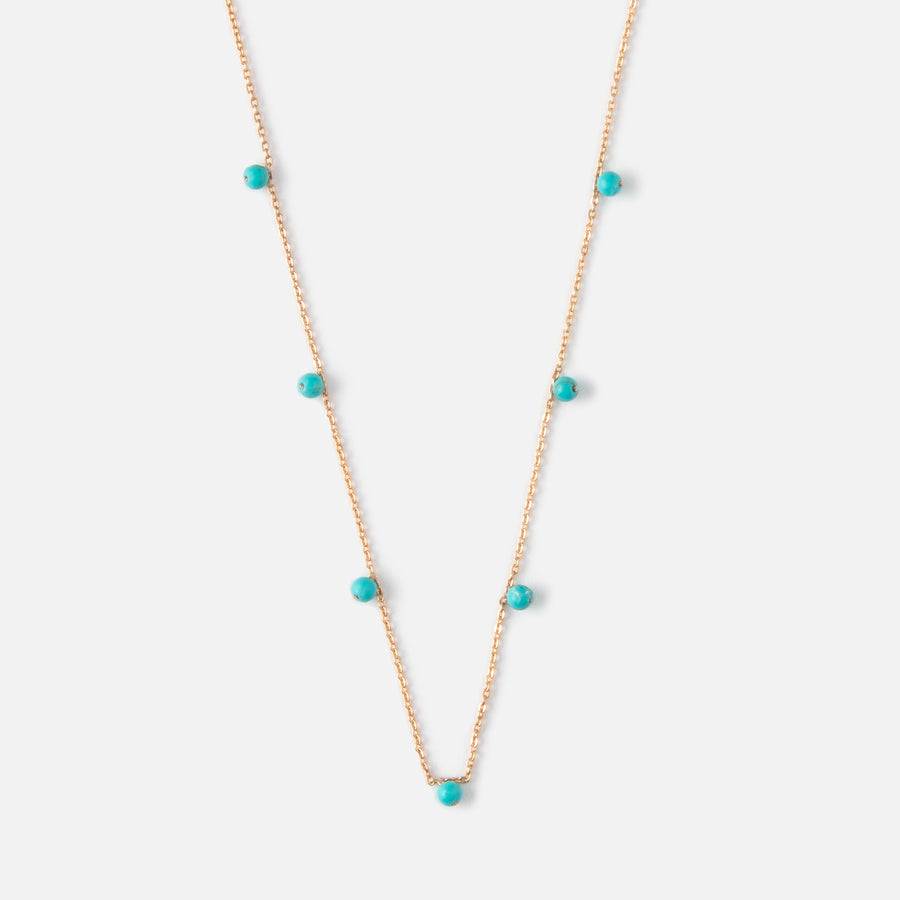 Multi Bead Turquoise Necklace