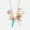 Sea Shell Cluster Charm Necklace
