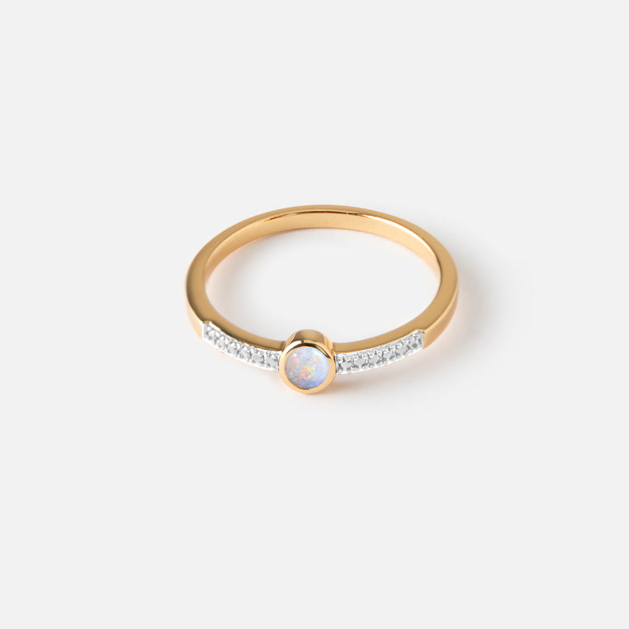 Opal Jewel & Crystal Ring