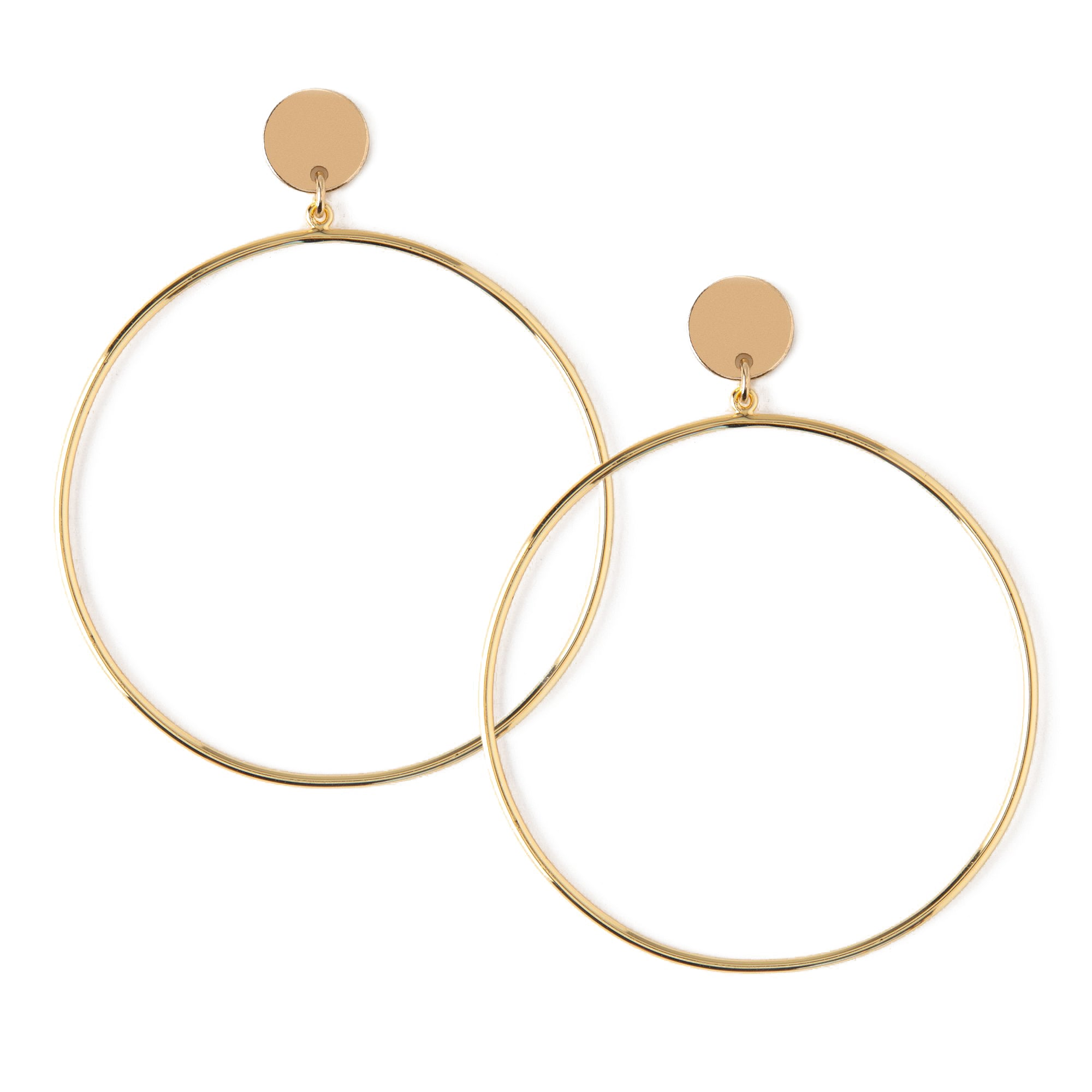 Disc & Hoop Drop Earrings