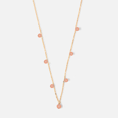 Semi Precious Fine Coral Drop Necklace