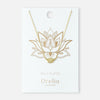 Spiritual Lotus Necklace - Gold