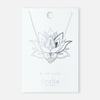 Spiritual Lotus Necklace - Silver
