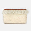 Tassel Straw Clutch Bag - Natural