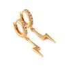 LUXE Lightning Bolt Small Hoop Earrings