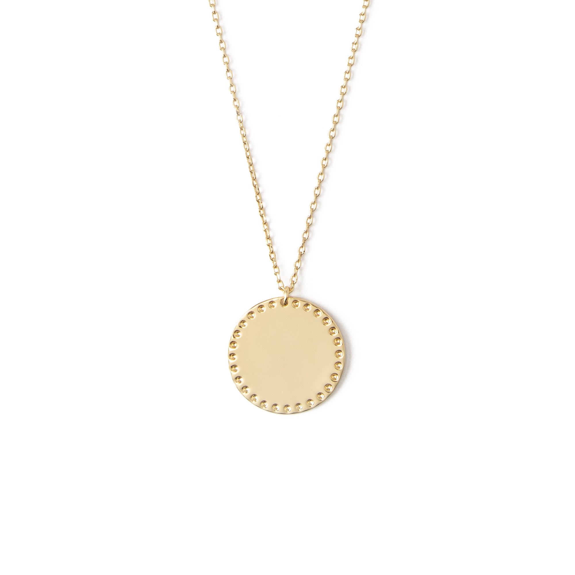 LUXE Coin Charm Necklace - Gold