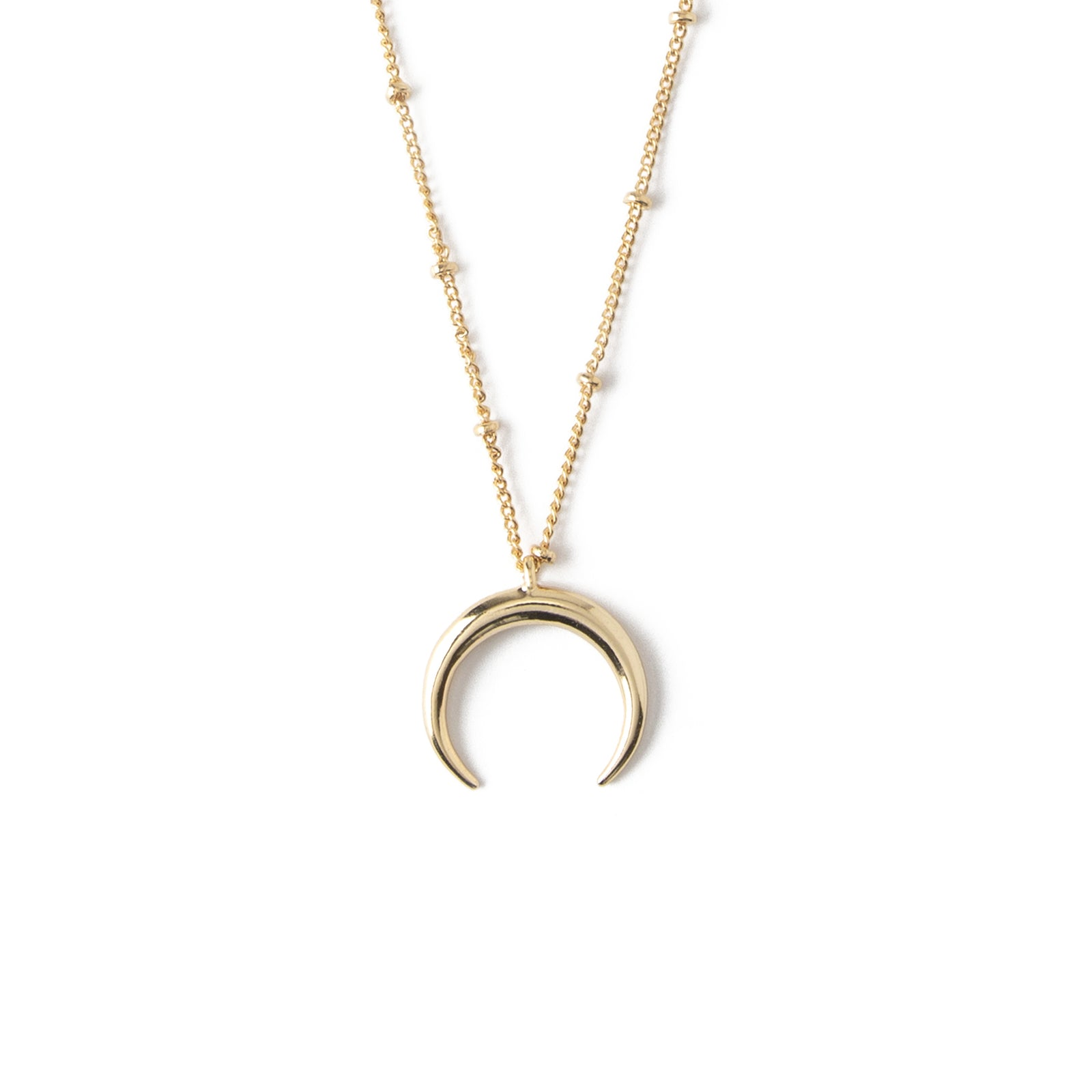 409b2ad51e2c7 LUXE Crescent Charm Necklace - Gold
