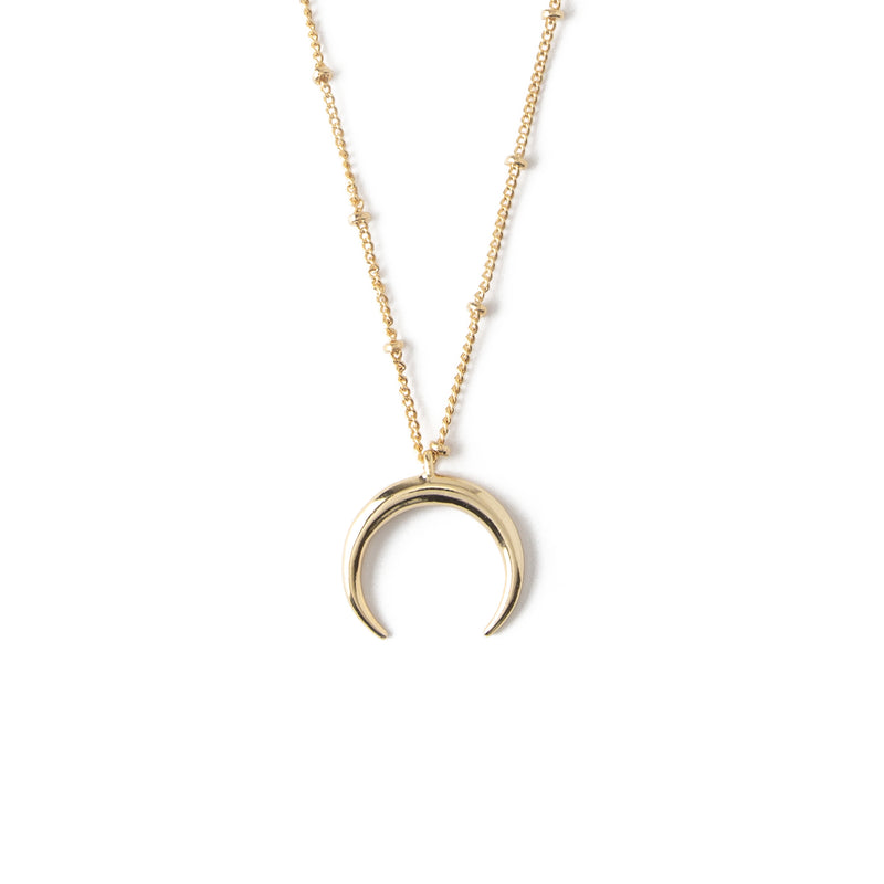 LUXE Crescent Charm Necklace - Gold