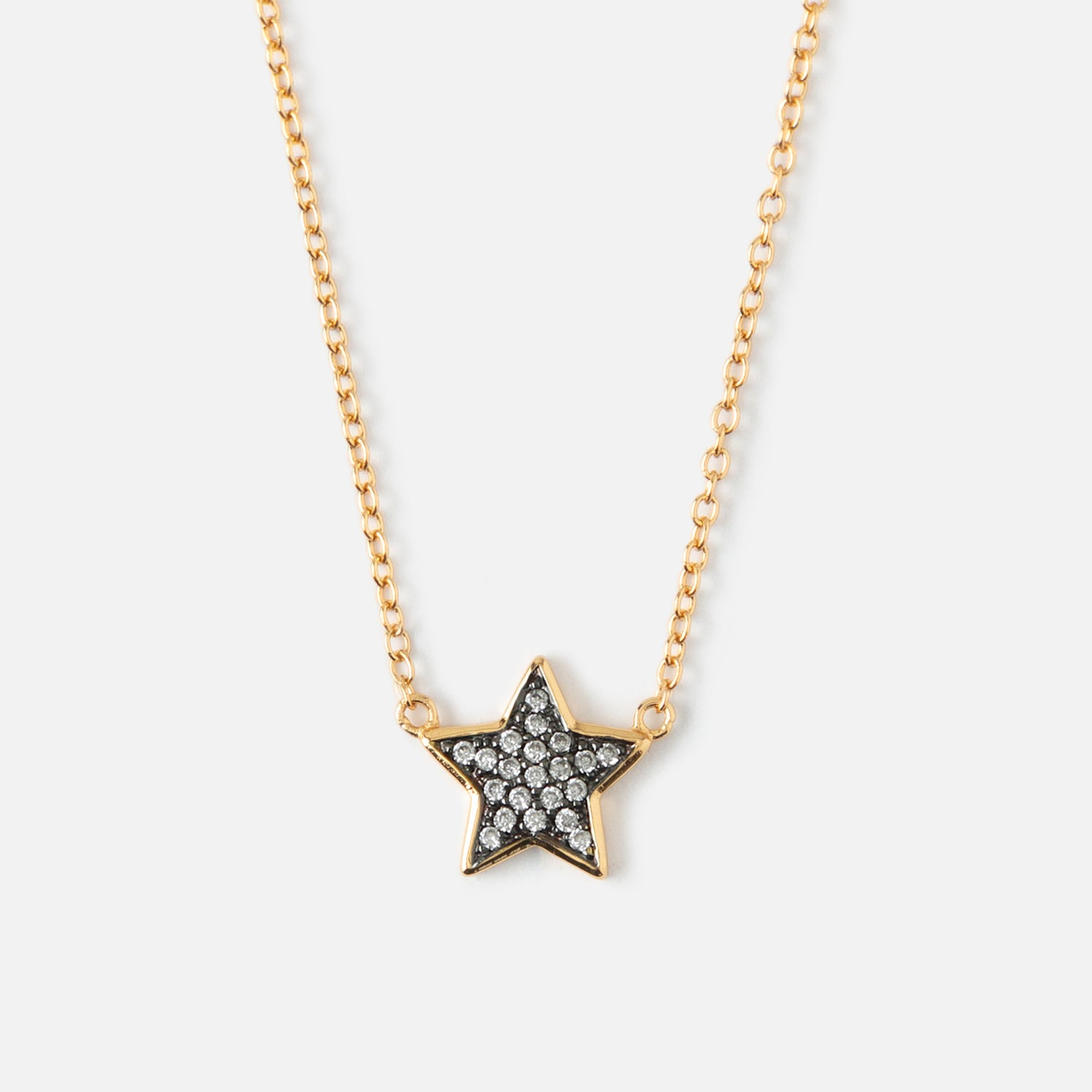 LUXE Crystal Star Charm Necklace