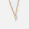 LUXE Short Spear Necklace - White Opal