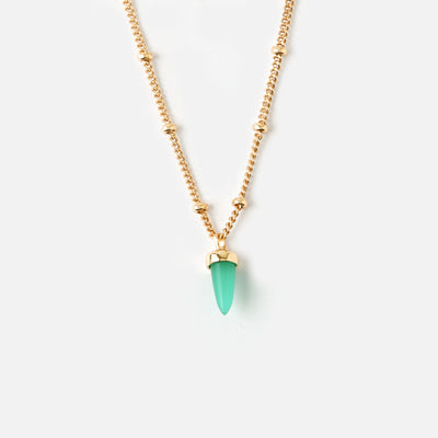 LUXE Short Spear Necklace - Emerald Green