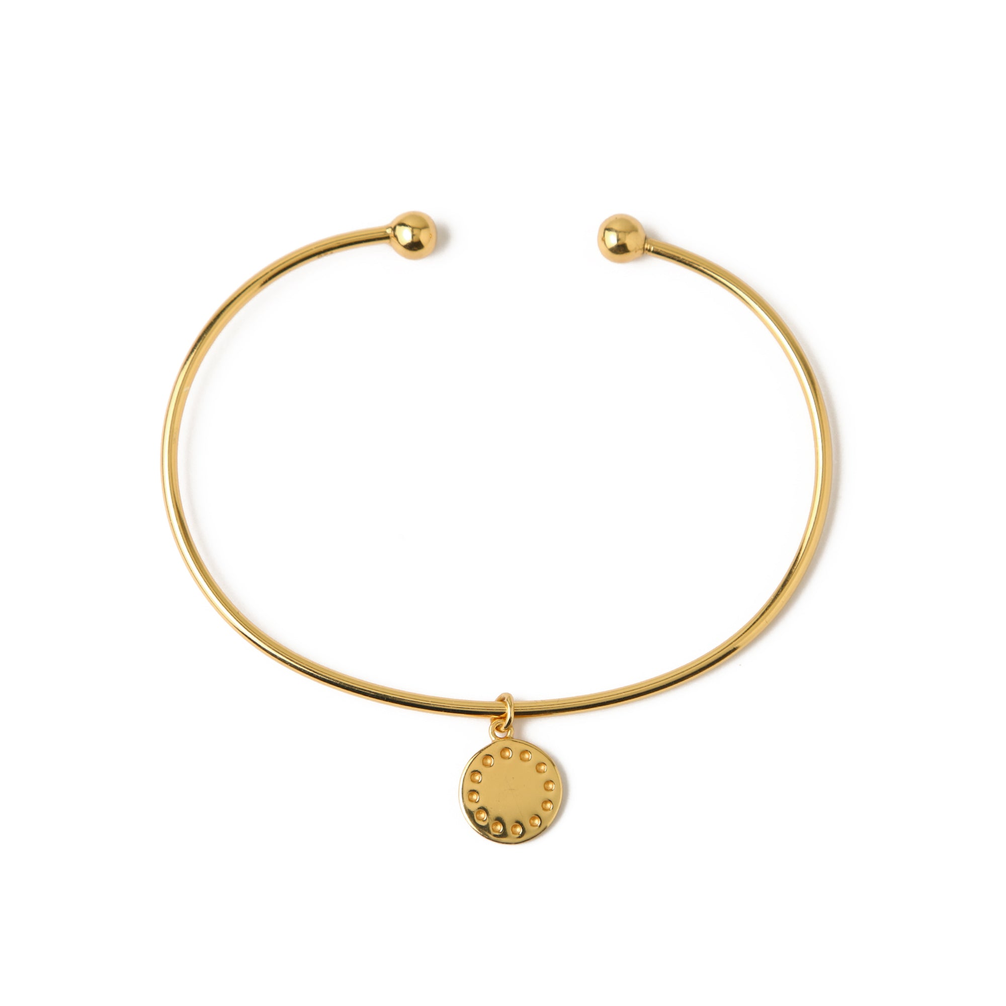 LUXE Coin Charm Bangle - Gold