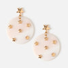 Star Embellished Shell Earrings