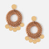 Raffia Hoop & Coin Earrings