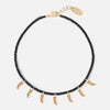 Seedbead & Tusk Collar Length Necklace