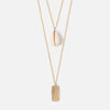 Shell & Palm Tag Layered Necklace