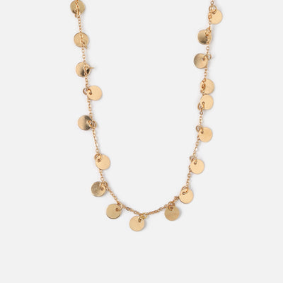 Long COIN DROP NECKLACE